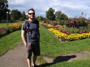 Me enjoying the Washington Park flower gardens